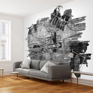 Fototapeta - Black-and-white New York collage