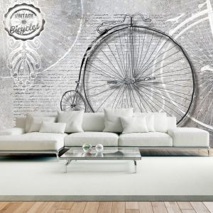 Fototapeta - Vintage bicycles - black and white